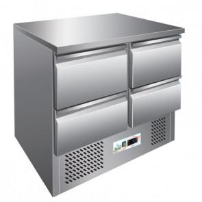 Saladette Refrigerata S901-4D 4 Cassetti Cm 90 x 70 x 87 h - Temp. +2° +8°