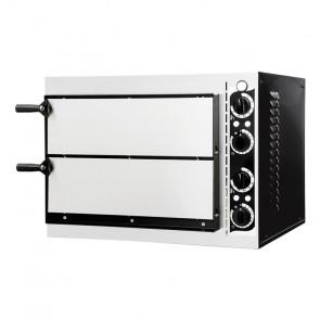 Forno Pizza Elettrico Small Basic - 2 Camere - N° 1 + 1 Pizza Ø Cm 32