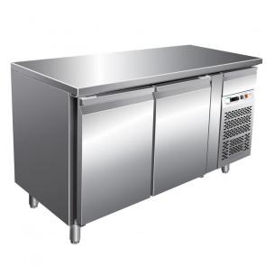 Banco Refrigerato Gastronomia 2 Porte Cm 136 x 60 x 85/95 Temp. -2° +8°C