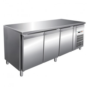Banco Refrigerato Gastronomia 3 Porte Cm 179,5 x 60 x 85/95, Temp -2° +8°C