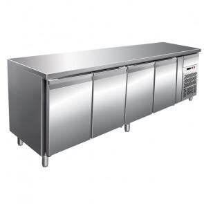 Banco Refrigerato Gastronomia 4 Porte Cm 223 x 60 x 85/95, Temp -2° +8°C