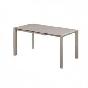 Tavolo Allungabile con Piano in Vetro e Struttura Verniciata - Cm 122/182 x 80 x 76  h