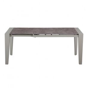 Tavolo Allungabile con Piano in Vetro e Piano in Ceramica - Cm 120/170 x 75 x 76 h