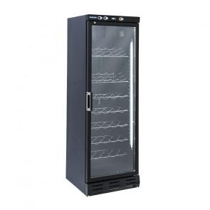 Cantinetta Refrigerata per Vini TW390 - Esterno Nero con Griglie Cromate  +7° +20° C - Capacità Lt 350