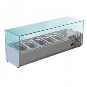 Vetrina Statica per Pizzeria - Temperatura +2° +8° C - Cap. 5 Vaschette GN 1/4