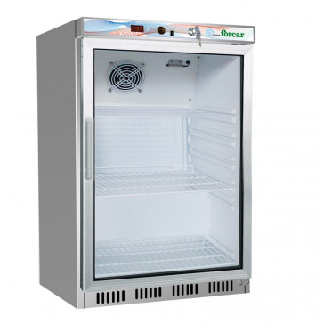 Stainless Steel Under Counter Refrigerator With Glass Door